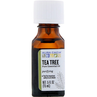 Aura Cacia, Pure Essential Oil, Tea Tree, .5 fl oz (15 ml)