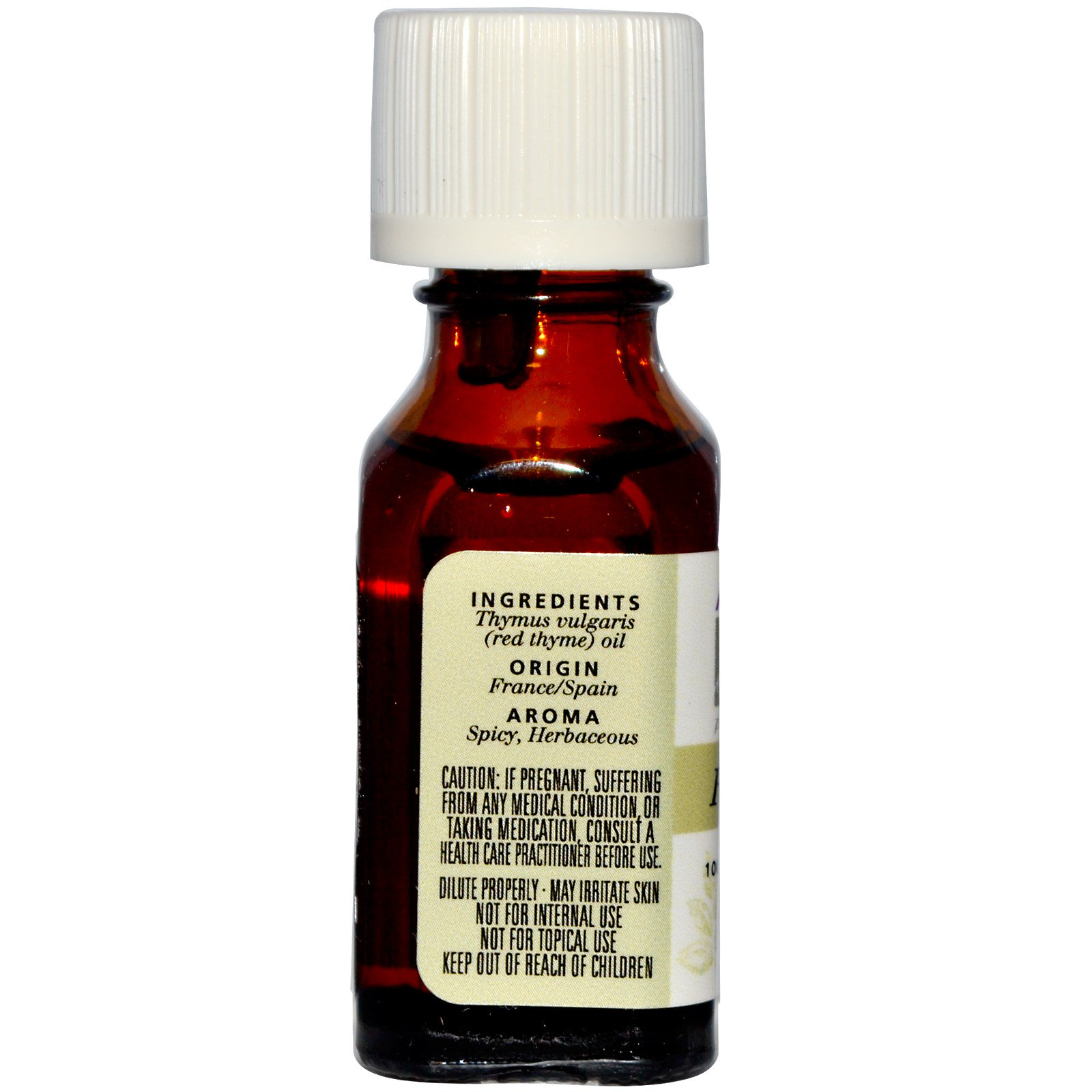 0.5 Fl Oz Aceite Esencial Tomillo Rojo thymus Vulgaris