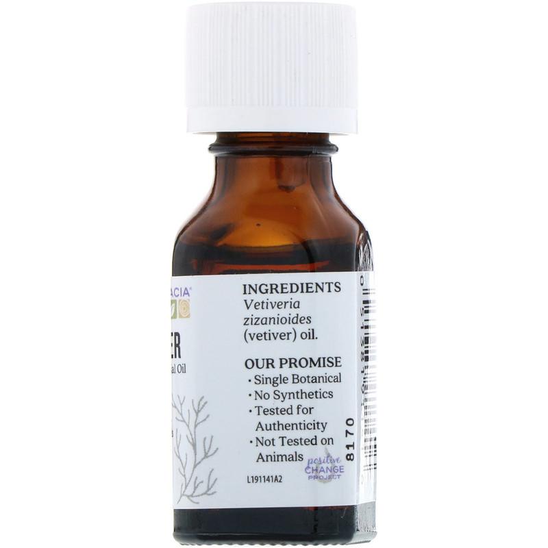 Aura Cacia, Pure Essential Oil, Vetiver, .5 fl oz (15 ml) - photo 1