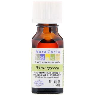 Aura Cacia, 100%-ное чистое эфирное масло, винтергрен, 0,5 ж. унц. (15 мл)