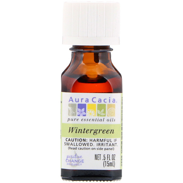 Pure Essential Oil, Wintergreen, .5 fl oz (15 ml)