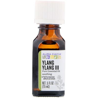 100% чистые эфирные масла, иланг-иланг III, чувственный, 0,5 жидких унций (15 мл)