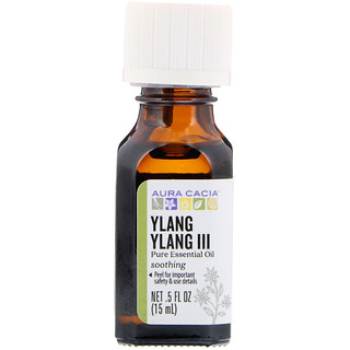 Aura Cacia, Pure Essential Oil, Ylang Ylang III, .5 fl oz (15 ml)