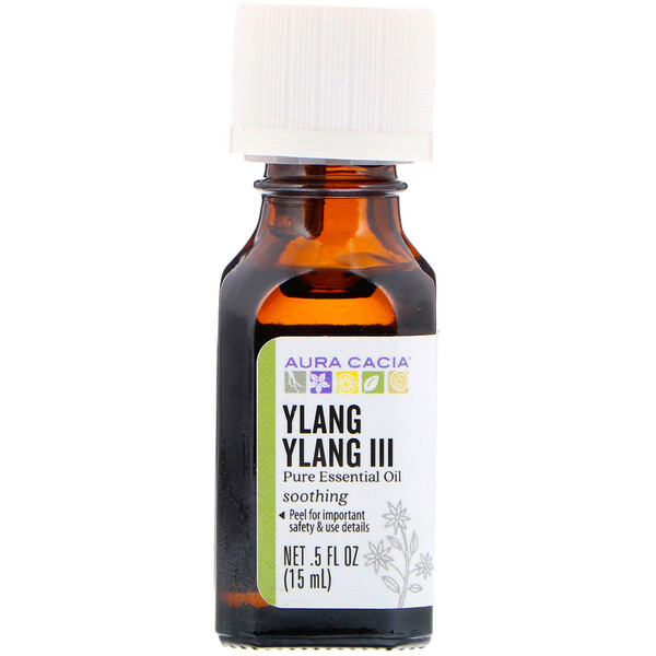 Pure Essential Oil, Ylang Ylang III, .5 fl oz (15 ml)