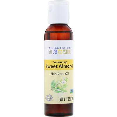 Купить Натуральное масло для ухода за кожей с витамином Е, Питательное масло сладкого миндаля, 4 жидких унции (118 мл)