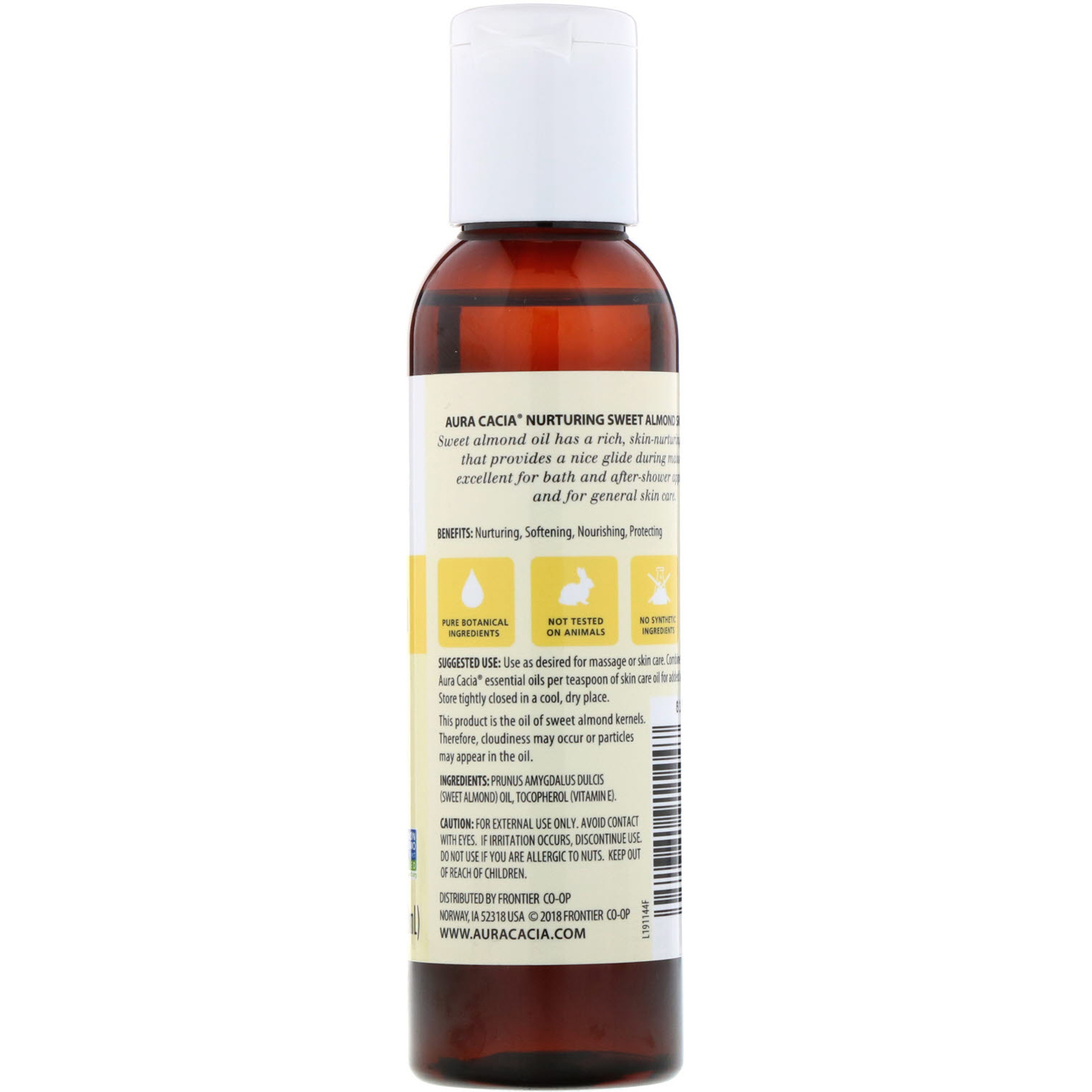 Aura Cacia, Skin Care Oil, Nurturing Sweet Almond, 4 fl oz