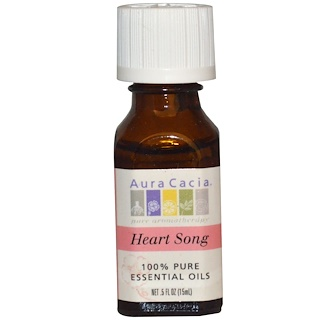 Aura Cacia, 100% Pure Essential Oils, Heart Song, .5 fl oz (15 ml)
