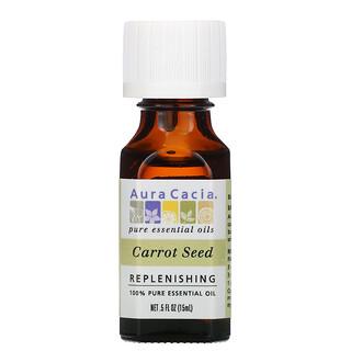 Aura Cacia, 100% Pure Essential Oil, Carrot Seed, 0.5 fl oz (15 ml)