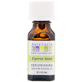 Aura Cacia, 100% Pure Essential Oil, Carrot Seed, .5 fl oz (15 ml)