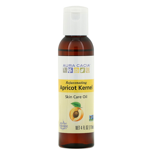Skin Care Oil, Rejuvenating Apricot Kernel, 4 fl oz (118 ml)