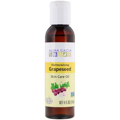 Купить Skin Care Oil, Harmonizing Grapeseed, 4 fl oz (118 ml)