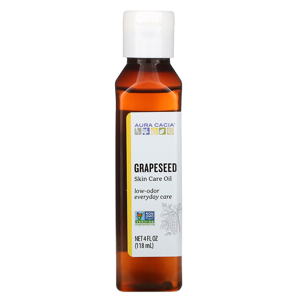 Skin Care Oil,  Grapeseed, 4 fl oz (118 ml)