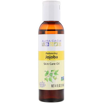 Натуральное масло жожобы по уходу за кожей, балансирующее, 4 жидких унции (118 мл)