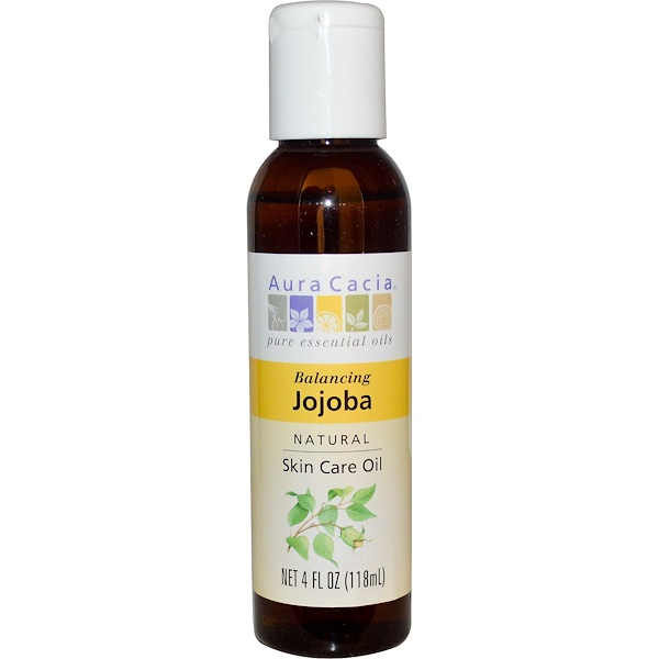 Aura Cacia, Natural Skin Care Oil, Balancing Jojoba, 4 fl oz (118 ml)