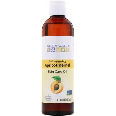 Натуральное масло для ухода за кожей из абрикосовых косточек 16 жидких унций (473 мл)