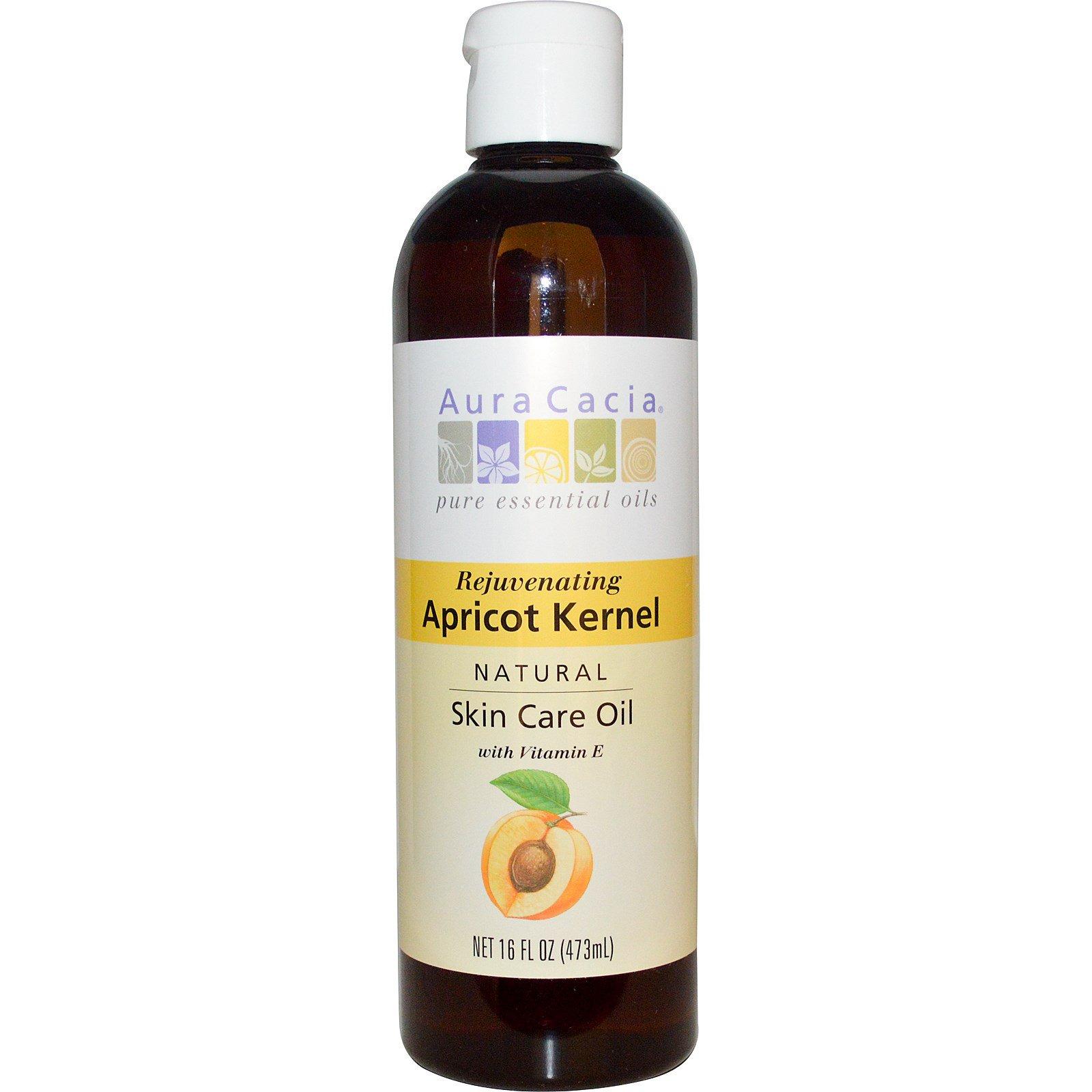 Aura Cacia, Натуральное масло для ухода за кожей из абрикосовых косточек 16 жидких унций (473 мл)