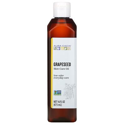 Купить Aura Cacia Skin Care Oil, Grapeseed, 16 fl oz (473 ml)