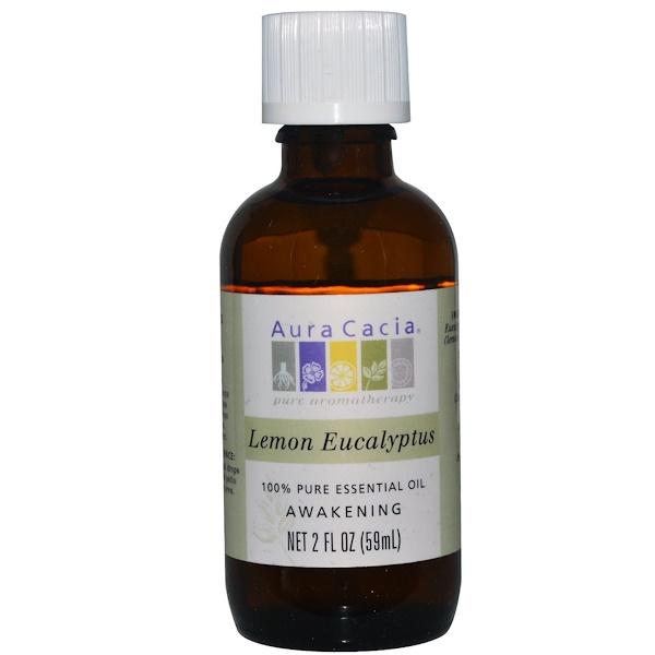 Aura Cacia, 100% 純檸檬桉葉精油,2盎司(59毫升)