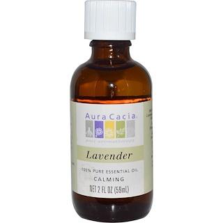 Aura Cacia, 100% 純エッセンシャルオイル、ラベンダー、 2 液量オンス (59 ml)