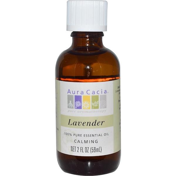 Aura Cacia, 100% 純精油,薰衣草, 2 液盎司 (59 毫升)