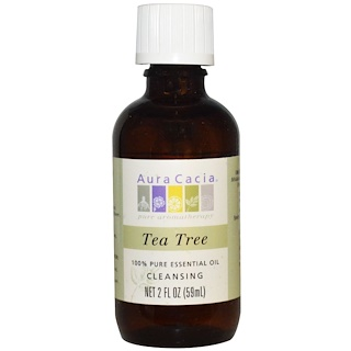 Aura Cacia, 100% Pure Essential Oil, Tea Tree, 2 fl oz (59 ml)
