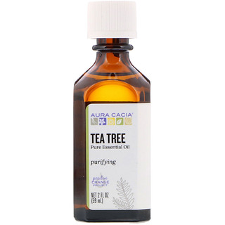 Aura Cacia, Pure Essential Oil, Tea Tree, 2 fl oz (59 ml)