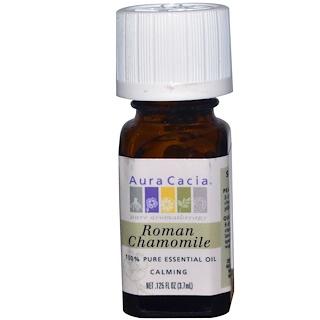 Aura Cacia, Aceite Esencial 100% Puro, Camomola Romana, 0.125 fl oz (3.7 ml)