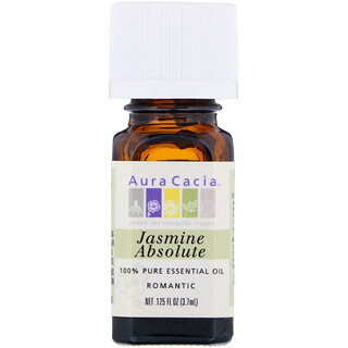 Aura Cacia, 100% Pure Essential Oil, Jasmine Absolute, .125 fl oz (3.7 ml)