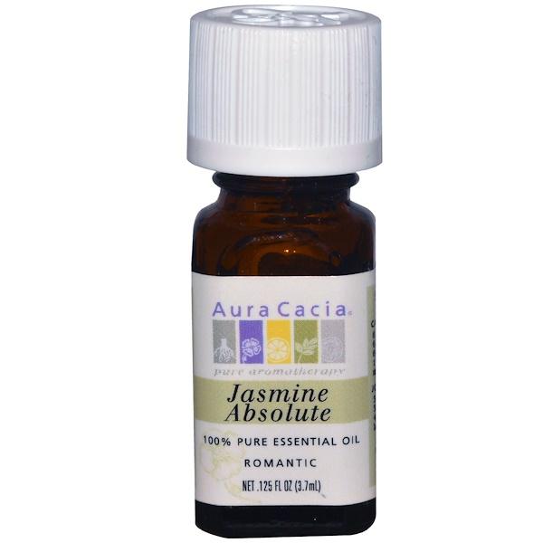Aura Cacia, 100% Pure Essential Oil, Jasmine Absolute, .125 fl oz (3.7 ml)