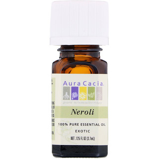 Aura Cacia, 100% Pure Essential Oil, Neroli, .125 fl oz (3.7 ml)