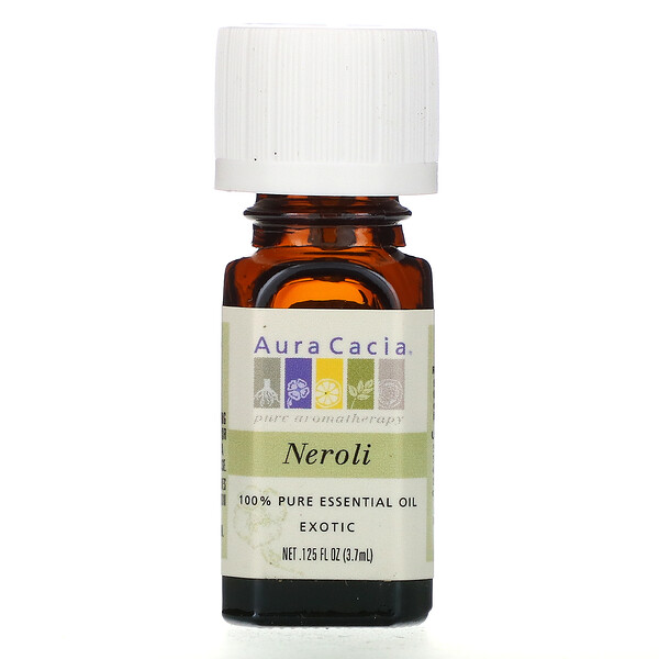 Aura Cacia, 100% Pure Essential Oil, Neroli, .125 fl oz (3.7 ml) (Discontinued Item)