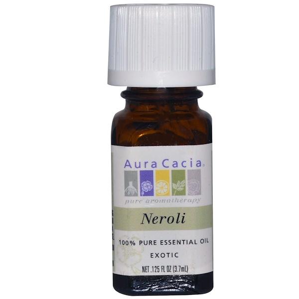 Aura Cacia, 100% 純精油,橙花,、125 液盎司 (3、7 毫升)