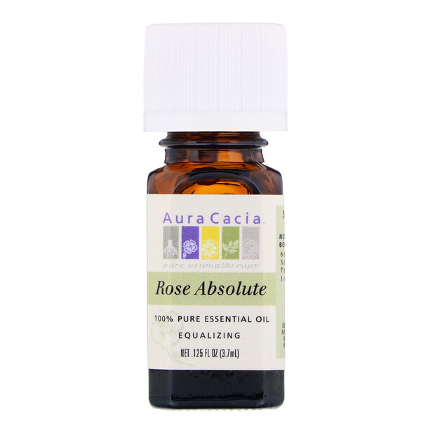 100% Pure Essential Oil, Rose Absolute, .125 fl oz (3.7 ml)