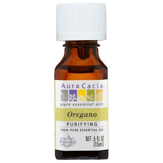 Aura Cacia, 100% Pure Essential Oil, Oregano, Purifying, .5 fl oz (15 ml)