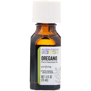 Aura Cacia, Pure Essential Oil, Oregano, .5 fl oz (15 ml)