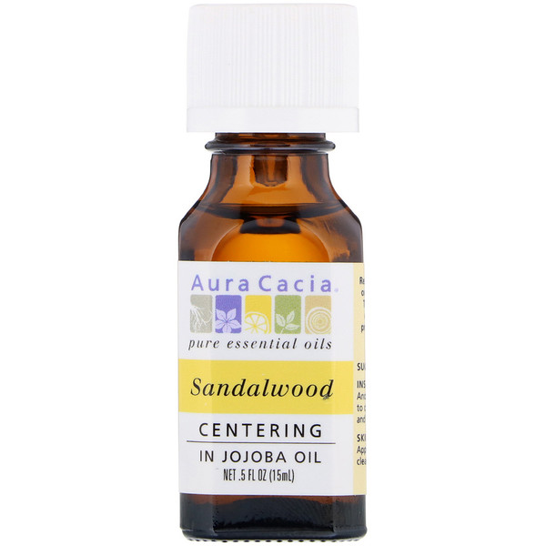 Aura Cacia, Pure Essential Oils, Sandalwood, .5 fl oz (15 ml)
