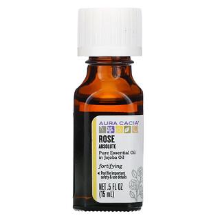 Aura Cacia, Pure Essential Oil, Rose Absolute, 0.5 fl oz (15 ml)