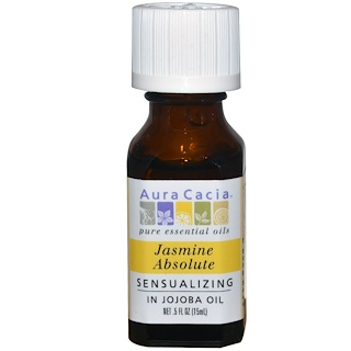 Aura Cacia, Jasmine Absolute, Sensualizing , .5 fl oz (15 ml)