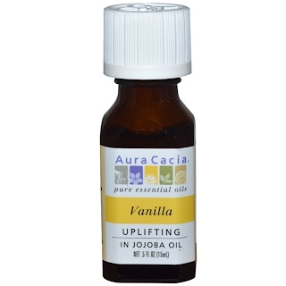Aura Cacia, Pure Essential Oils, Vanilla, .5 fl oz (15 ml)