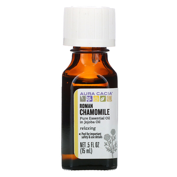 Aura Cacia, Pure Essential Oils, Roman Chamomile, .5 fl oz (15 ml)