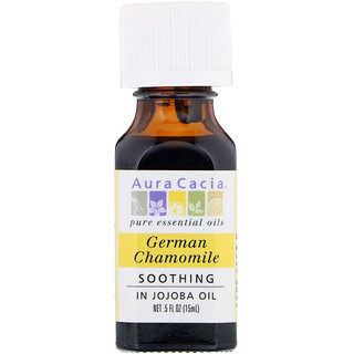 Aura Cacia, Pure Essential Oil, German Chamomile, .5 fl oz (15 ml)