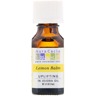 Aura Cacia, Lemon Balm, Uplifting, .5 fl oz (15 ml)