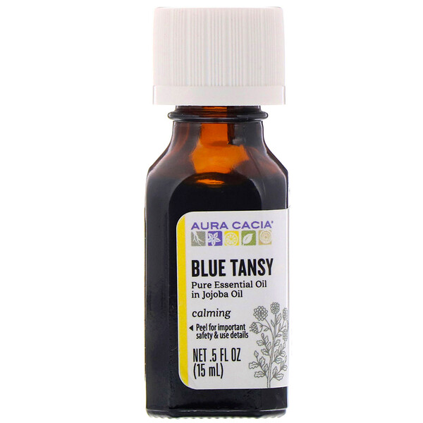Pure Essential Oil In Jojoba Oil, Blue Tansy, .5 fl oz (15 ml)