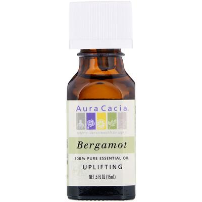 Купить 100% чистое эфирное масло бергамота, 0.5 жидкой унции (15 мл)