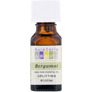 Aura Cacia, 100% Pure Essential Oil, Bergamot, .5 fl oz (15 ml)