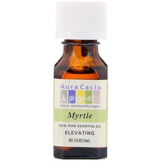 Aura Cacia, 100% Pure Essential Oil, Myrtle, Elevating, .5 fl oz (15 ml)