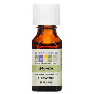 Аура Кация, 100% Pure Essential Oil, Myrtle, .5 fl oz (15 ml) отзывы покупателей