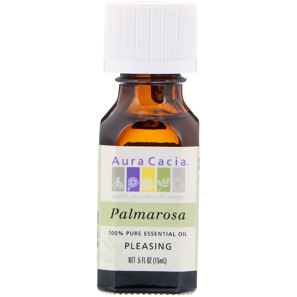 Aura Cacia, 100% Pure Essential Oil, Palmarosa, .5 fl oz (15 ml)