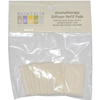 Aura Cacia, Aromatherapy Diffuser Refill Pads, 10 Refill Pads
