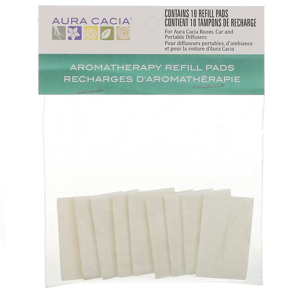 Aura Cacia, Aromatherapy Refill Pads, 10 Refill Pads (Discontinued Item)